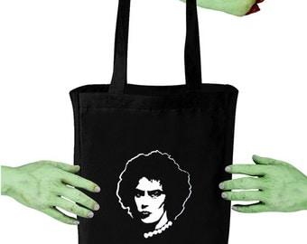 Voodoo Sugar Rocky Horror Frank N Furter Black Tote Bag