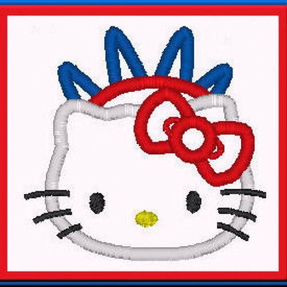Items similar to limited sample sale hello kitty 4th of for Hello kitty 4th of july coloring pages
