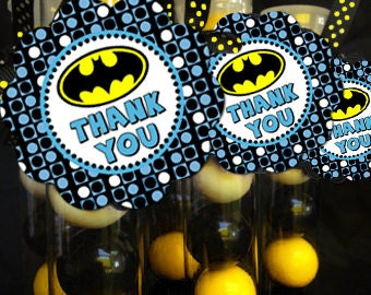 printable favor tags batman superhero baby shower birthday party
