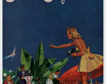 vintage  mid century southern california illustration pinup fashion DIGITAL DOWNLOAD