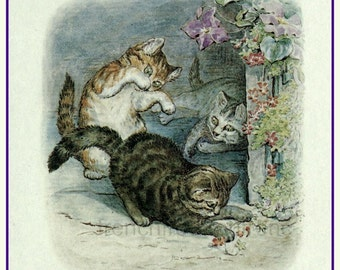 vintage Beatrix Potter illustration Tom Kitten nursery rhyme DIGITAL DOWNLOAD