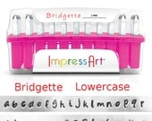 BRIDGETTE LowerCase Letter Alphabet Metal Stamp Set 3mm Font 1/8 inch ImpressArt Jewelry Stamps Hand Stamping Tools Lower Case New!