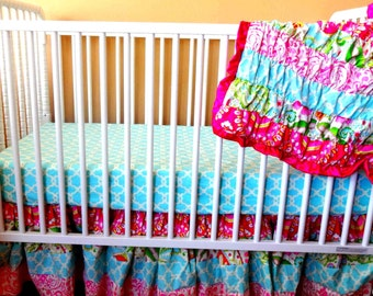 Kumari Garden Ruffled Crib Bedding