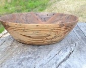 Wood Fruit bowl, Lg. Sweet Gum natural inclusion bowl, centerpiece, Spectacular. hand turned. warm color. brown.