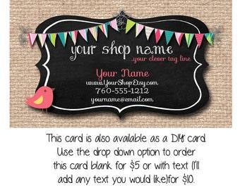 Burlap business card | Etsy