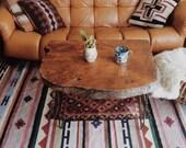 "R E S E R V E D for Delaney - Vintage Bohemian Southwestern Kilim Style Wool Area Rug - 104"" x 74"""
