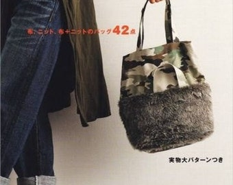 Fabric & Knit Bags- Yoshiko Tsukiori  - Japanese Sewing Pattern Book for Bag  -  B1144