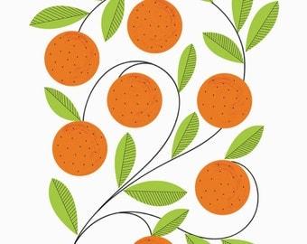 A3 Oranges Print