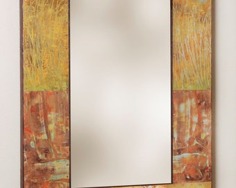 35 x 25 Metal and Copper Mirror