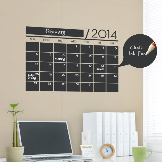 Chalkboard Wall Calendar - Vinyl Wall Decals