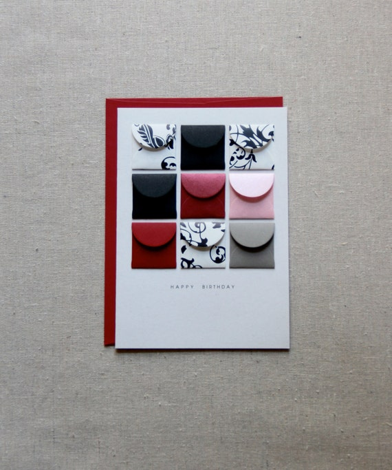 Happy Birthday Ruby - Tiny Envelopes Card