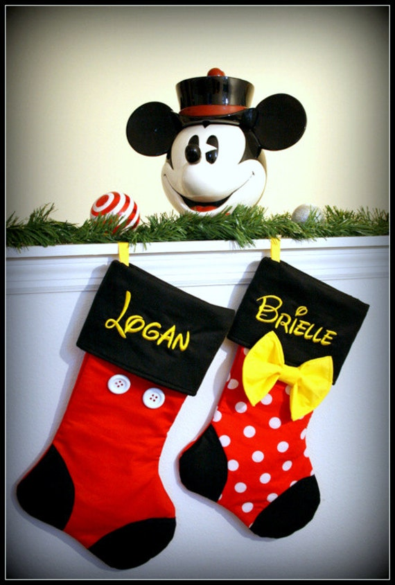 Minnie Mouse Christmas Stocking Personalized