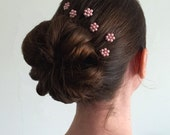 Pink Pearl Florettes - Set of 6 Bobby Pins