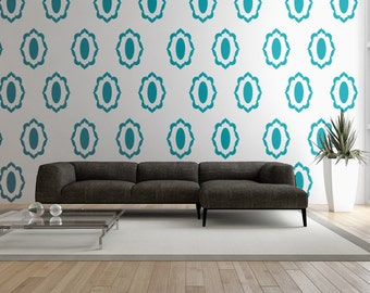 Flower Wall Decals, Floral Wall Decal, Geometric Wall Decor, Mid Century Modern Wall Decor, Abstract Retro Pattern, Dollop Wall Decal