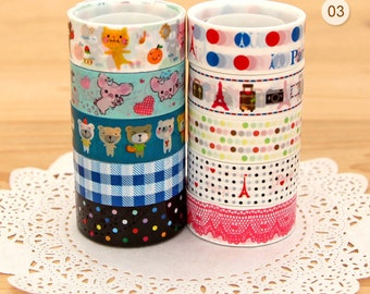 Cartoon & Travel mini deco tape set 03 Series 9