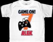 Personalized Video Game Birthday Shirt or Bodysuit - Personalized with ANY name and age