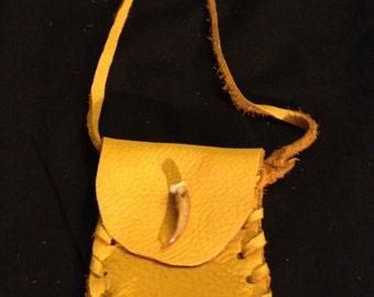 Turtle claw medicine bag Native American made