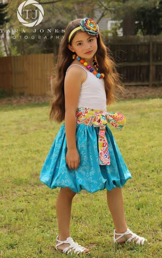 Girls Skirt Pattern, Easy Skirt Pattern, Bubble Skirt Sewing Pattern, Reversible Twirl Skirt Pattern, Girls 6m-12, Doll