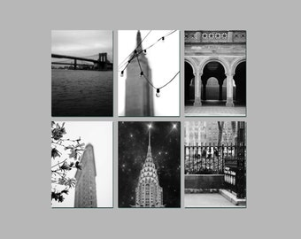 on Sale - Black and White New York Photography, Travel, Set of prints, NYC Art, Save 55%
