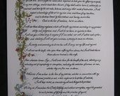 Physician/Hippocratic Oath/ Custom Calligraphy/Print/Old World/Made to Order/Gift for MD/Doctor/On Ecru 67 lb Paper 11x17