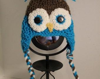 Baby Owl Hat newborn size