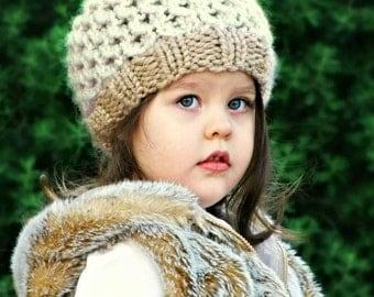KNITTING PATTERN - Knit Beanie Pattern - Baby Hat Knit Pattern - The Honeycomb Beanie - Pdf Hat - Knits 0-3/3-6/6-12/12-24/24-48mos & 5-10yr