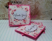 Floral - Thank You Mini Cards Customer Thank You cards ( Set of 4)