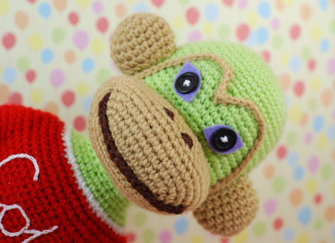 Crochet Toys For Boys : Cola monkey amigurumi crochet toy animal baby girl boy