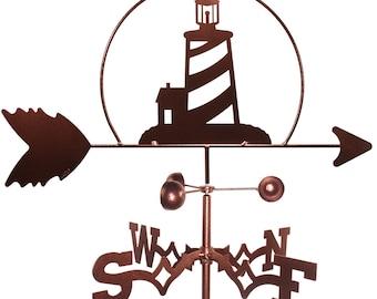 Hand Made Lighthouse Nautical Weathervane NEW