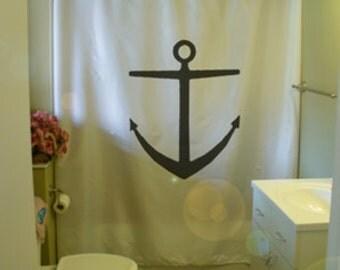 anchor ship Shower Curtain sea metal hull seabed maritime nautical naval bathroom decor kids bath curtains custom size long wide waterproof