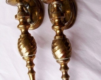 Vintage Solid Brass Wall Candle Sconces