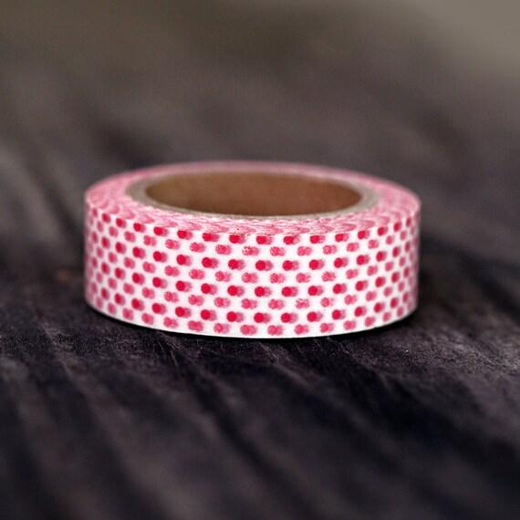 Pink Mini Dot  -  Single Roll 10 mm