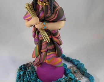 Southwest Indian sculpture Art Doll