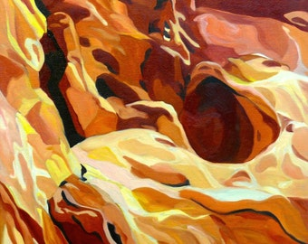 Fire Rocks Zion National Park Oil Painting