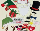 PDF  - Christmas photo booth props/decorations/craft - printable Instant Digital Download