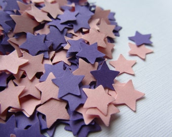 Wedding confetti Stars confetti Pink Purple Wedding star confetti birthday confetti purple pink stars