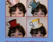 PDF epattern- Teacup Fascinator DIY Tutorial