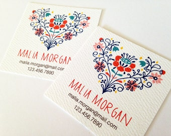 Personalized Business Cards, Custom Business Cards, Set of 48
