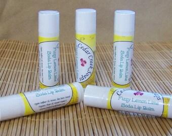 LIP BALM ~ Fizzy Lemon Lime Soda Lip Balm ~ Natural Lip Balms