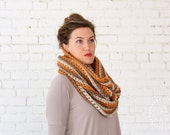 THE CORRUGATE COWL | 24 Color Choices| Chunky Knit Textured Infinity Cowl Scarf