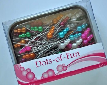 Dots of Fun, quilting and sewing pins