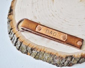 Genuine Leather Hand Stamped Key Fob - Perfect for Father's Day