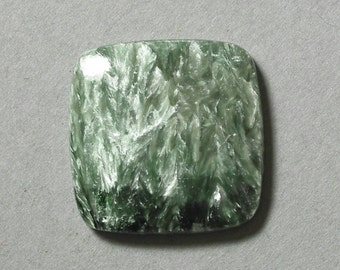 green SERAPHINITE cabochon square 25X25mm designer cab