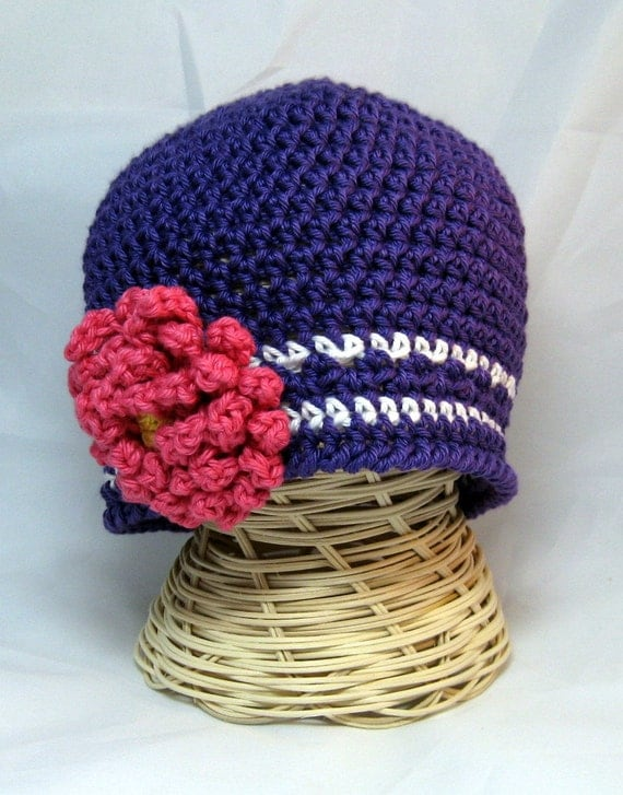 Crochet Baby Skull Cap Hat striped Beanie newborn infant toddler
