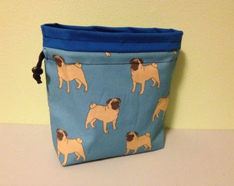 Pug Puppy Drawstring Bag