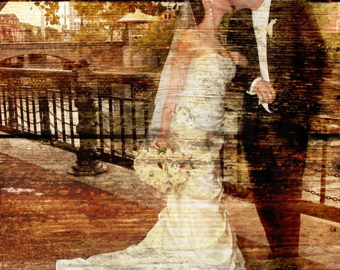 Fifth Wedding Anniversary for him REAL WOOD print Custom Anniversary Gift Wedding Decoration or Wedding Anniversary Gift 20x24