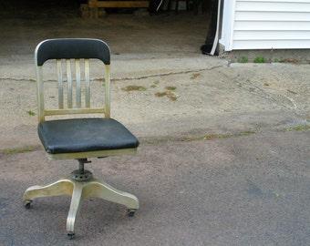 aluminum mid century industrial office chair
