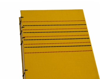 1963 STRIPED YELLOW Vintage Journal Notebook