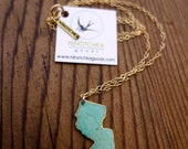 New Jersey Patina Necklace