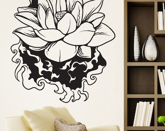 Vinyl Wall Decal Sticker Water Lotus 1445m